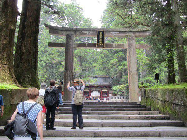 Ishidorii, one of the largest torii made of stone.