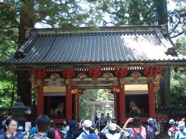 Omotemon gate from back side.