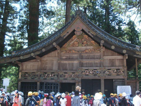 Sacred stable, only one unlacquered building in Toshogu.
