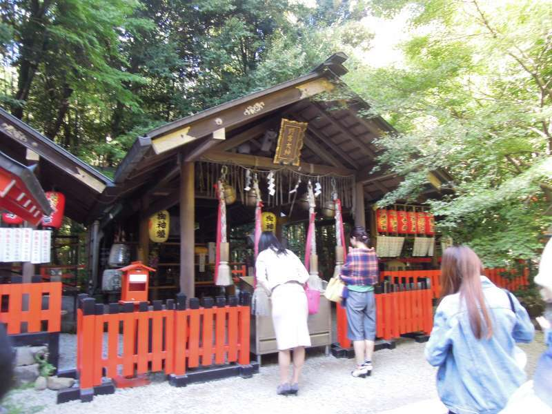 At Nonomiya Shrine in Arashiyama