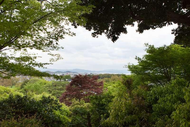 A view from the precinct of Jojako-ji Temple