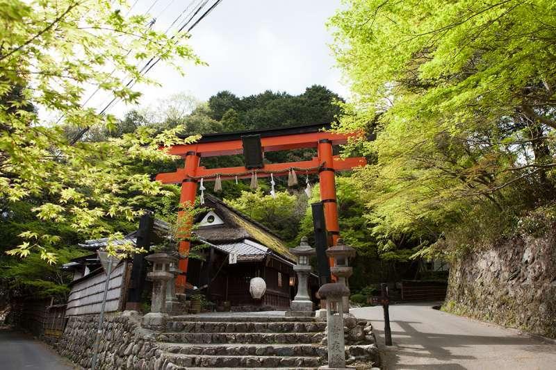 The torii gate to Atago Shrine at Toriimoto