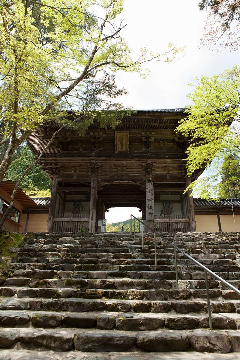 The main gate to Jingo-ji Temple, Takao