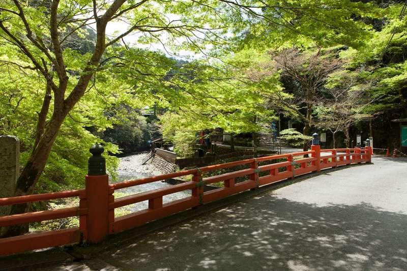 The bridge to Jingo-ji Temple, Takao