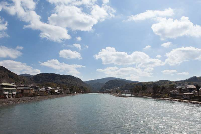 The scenery of the Uji River