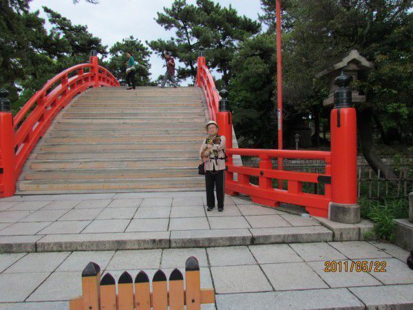Drum Bridge at Sumiyoshi Grand Shrine
