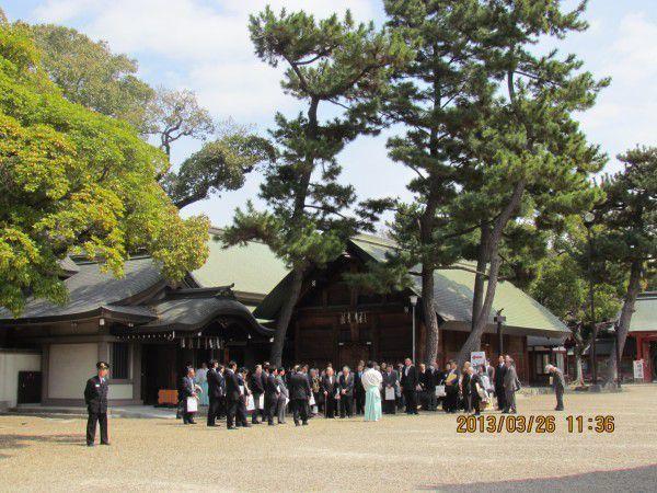 Gagakuden Hall at Sumiyoshi Grand Shrine