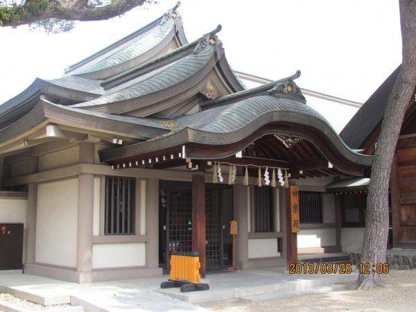 Gagaku-den at Sumiyoshi Grand Shrine