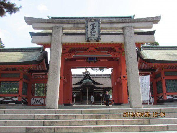 Sumiyoshi Shrine Gate and the third main shrine