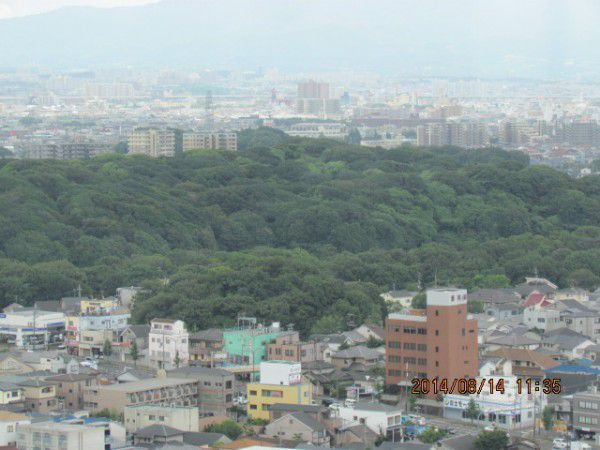 The mausoleum of Emperor Richu ( from the observation deck )