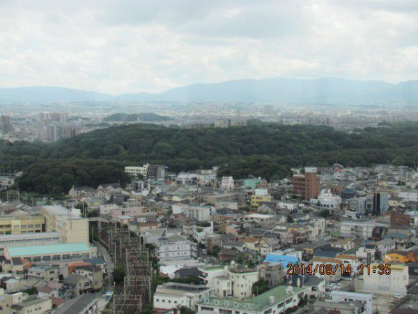 The mausoleum of Emperor Nintoku ( from the observation deck )