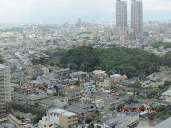 The mausoleum of Emperor Hanzei ( from the observation deck )