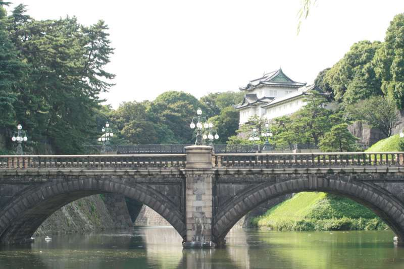 This is called Double Bridge, Niju-Bashi, led to the residence area of Imperial Palace.