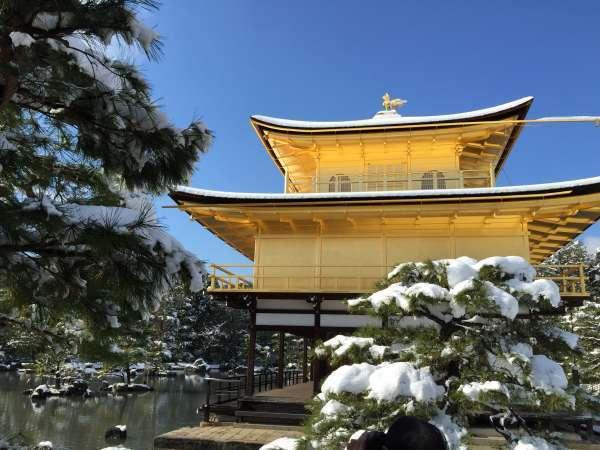 Templo de Oro (KINKAKU) siempre nos da una imagen de la belleza, especialmente en el invierno con la nieve.