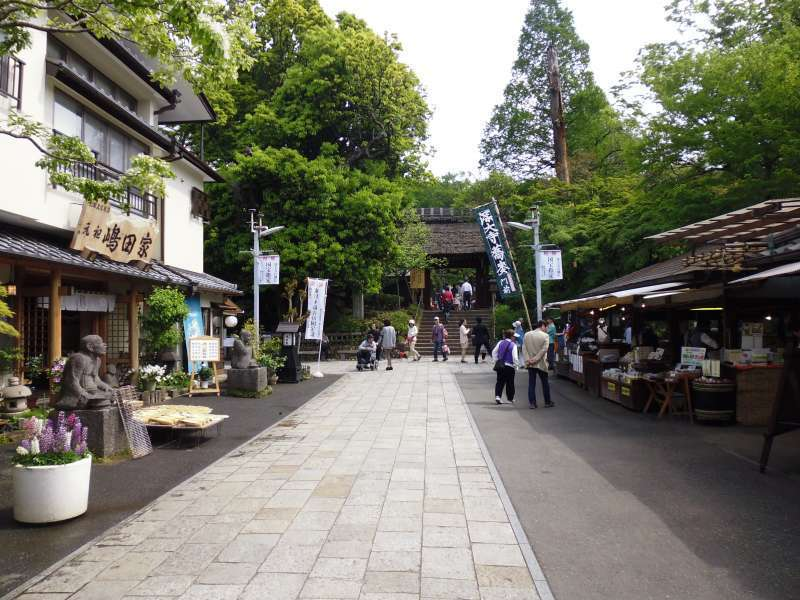 Temple Town and a gate to Jindaiji Temple