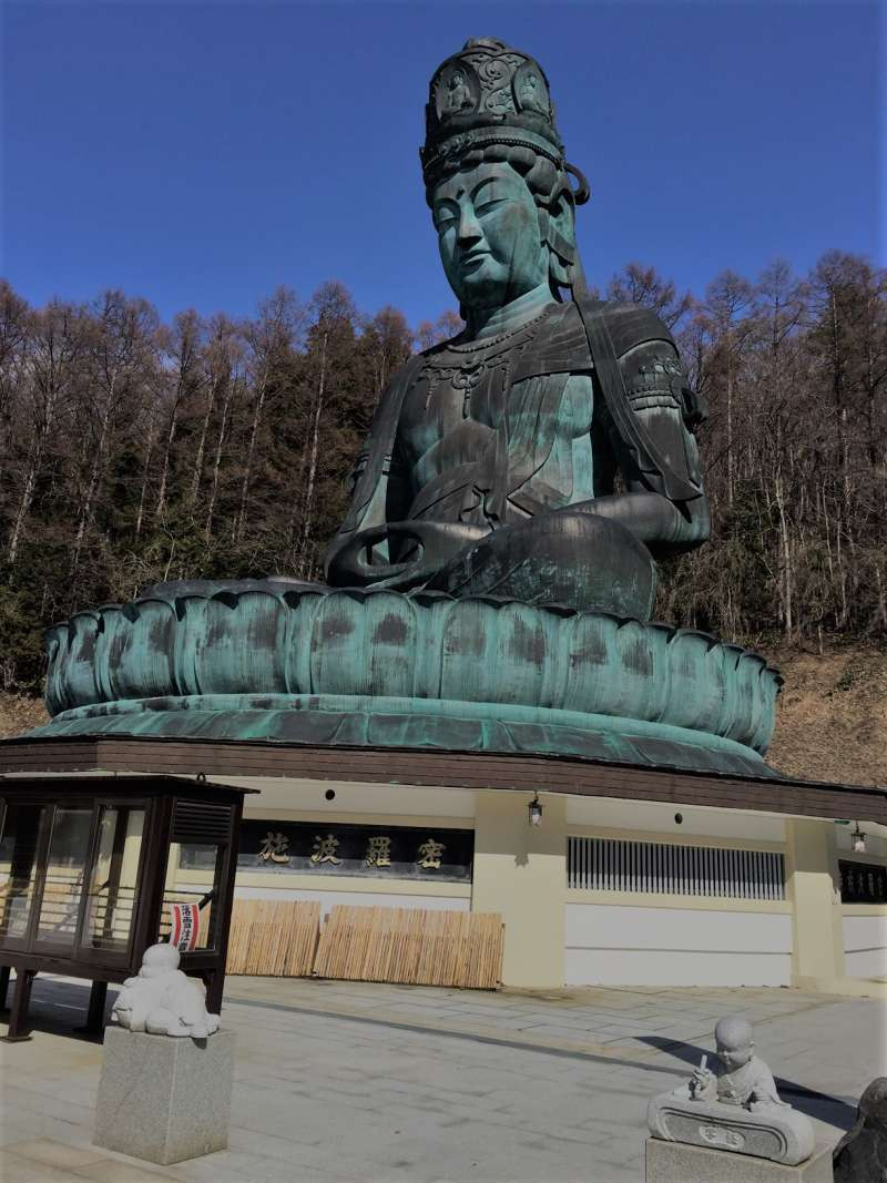 Great statue of Buddha in Seiryuji Temple