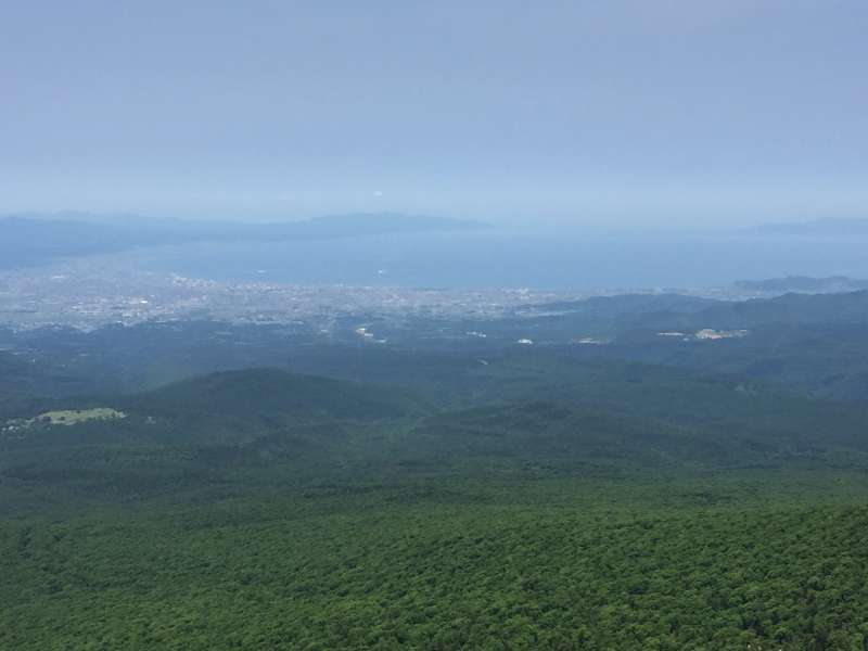 Panoramic view of Aomori City