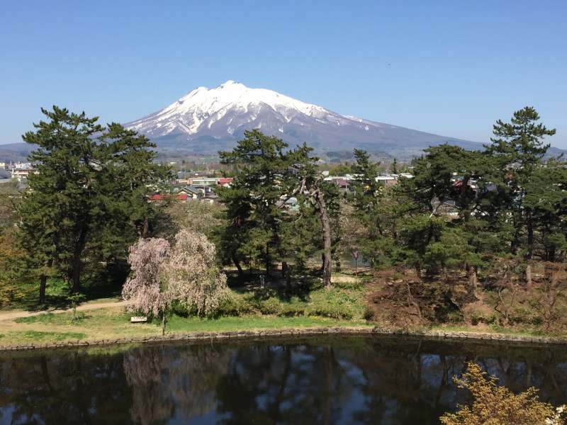Mt. Iwaki seen from the park