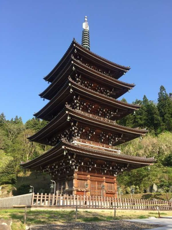 Five-storied pagoda in Seiryuji Temple