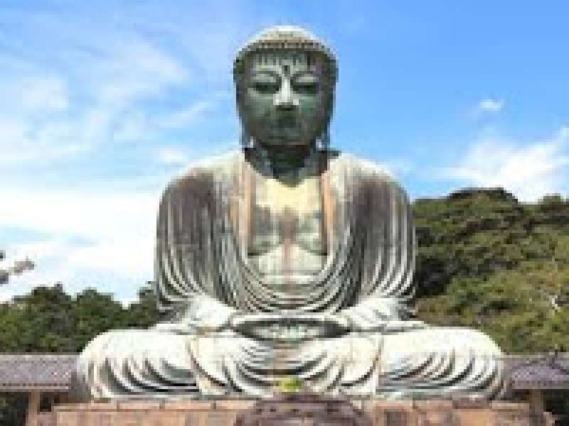 The Great Buddha in Kotokuji Temple inKamakura.