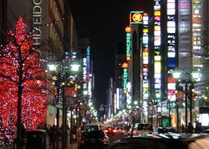 Dense area3 of the high class night clubs in Ginza.