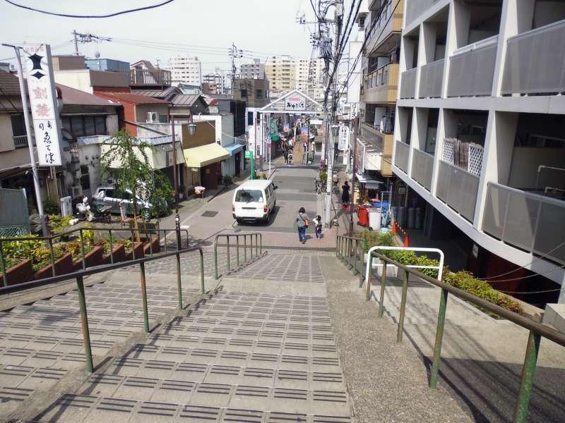 Retro shopping street in Yanaka