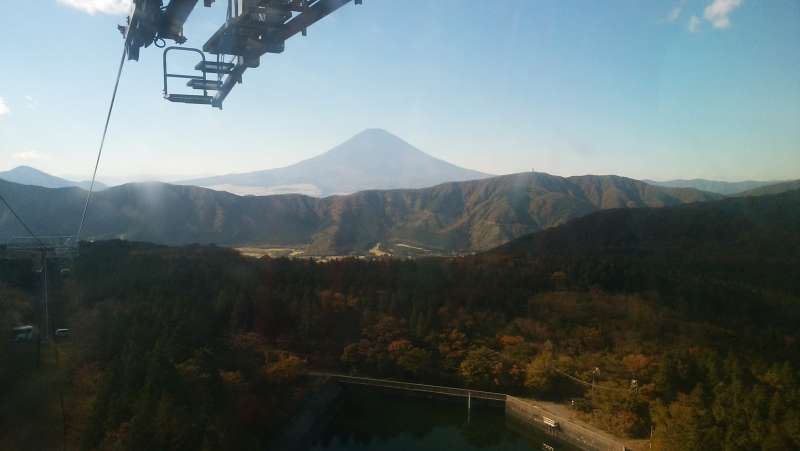 If the weather is fine, you can see Mt. Fuji clearly from a gondola.