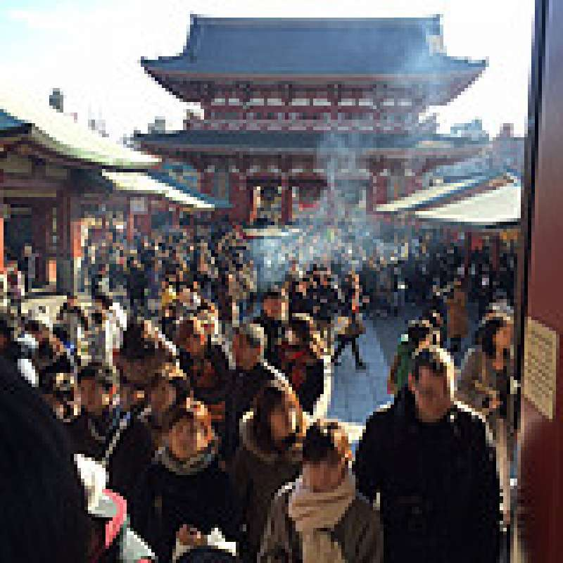 The most popular temple in Tokyo