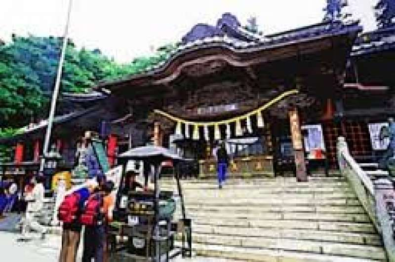 Historical shrine at the top of Mt. Takao.