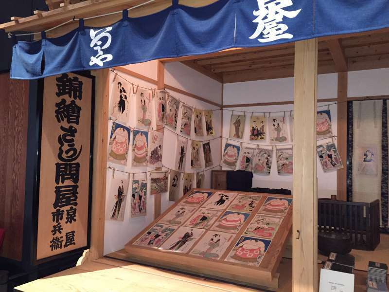 Ukiyoe shop in Edo