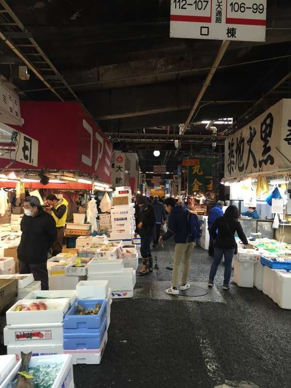 In Tsukiji fish market for reseller