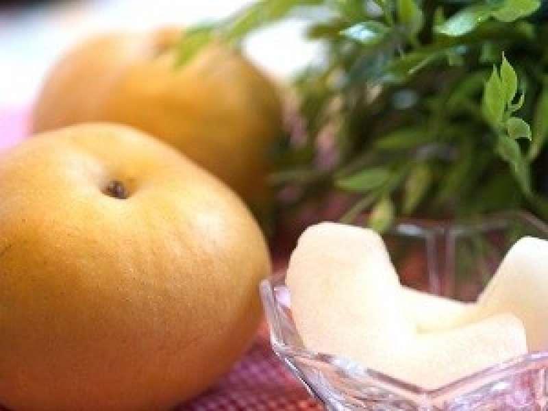 Japanese pear is big and crispy worth tasting!