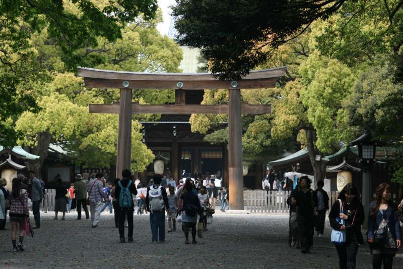 Meijijingu shrine was constructed to the memory of Meiji Emperor and Empress. Both contributed to the modernization of Japan since the big change of Japan called restoration.
