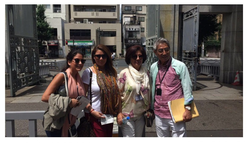 This is a photo which was taken with a family of Saudi Arabia in Tokyo university on July of 2017. They visited Japan to study Japanese traditional culture. Therefore, the tour they covered were Japanese Sushi Cooking course, Japanese language school, Japanese tea ceremony, Japanese fashion experience by Kimono, visit to Nikko Edo Wonderland and so on.