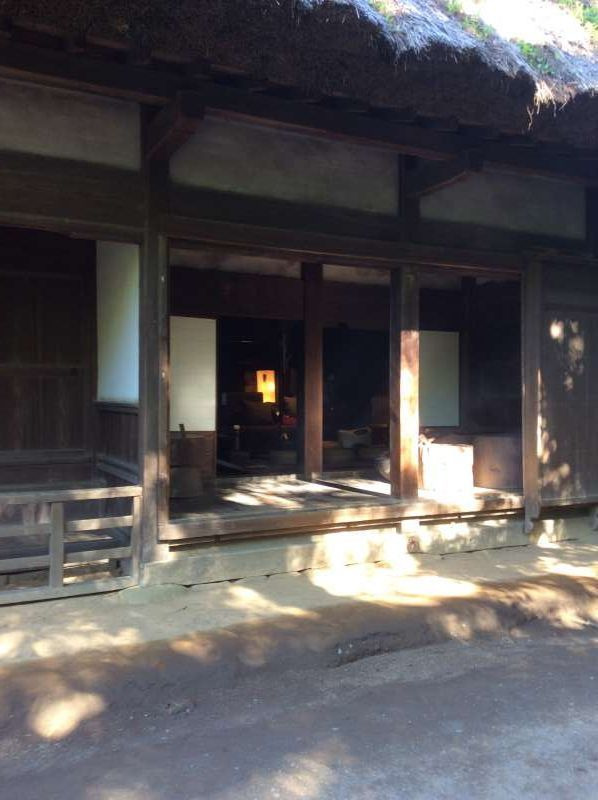 The front view of old Yanohara house, built in the heavily snowing area, Shirakawa district in Gifu prefecture during Edo period, and with the style of palm-joint structure to resist the snow. This was registered as UNESCO's World Heritage Site in 1995.