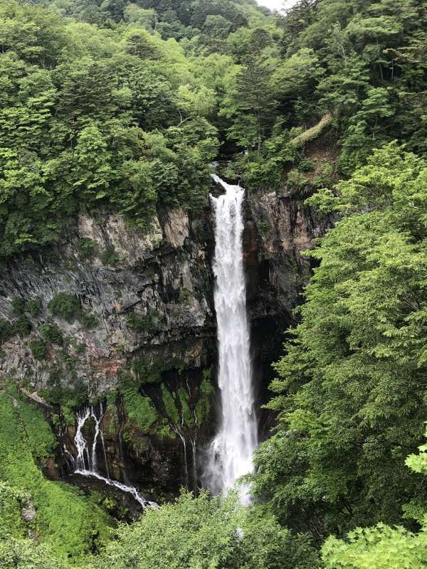 the Kegon Falls, one of the most famous falls in Japan