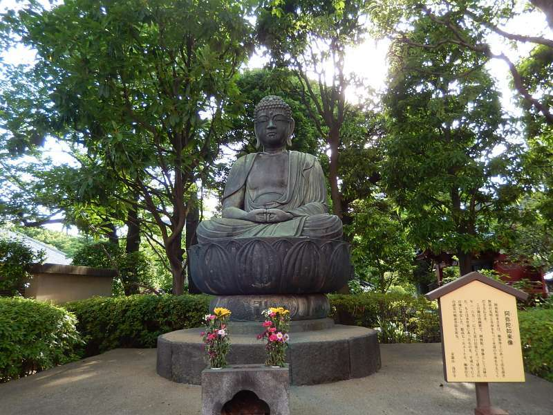 A Buddha statue at the Sensoji temple