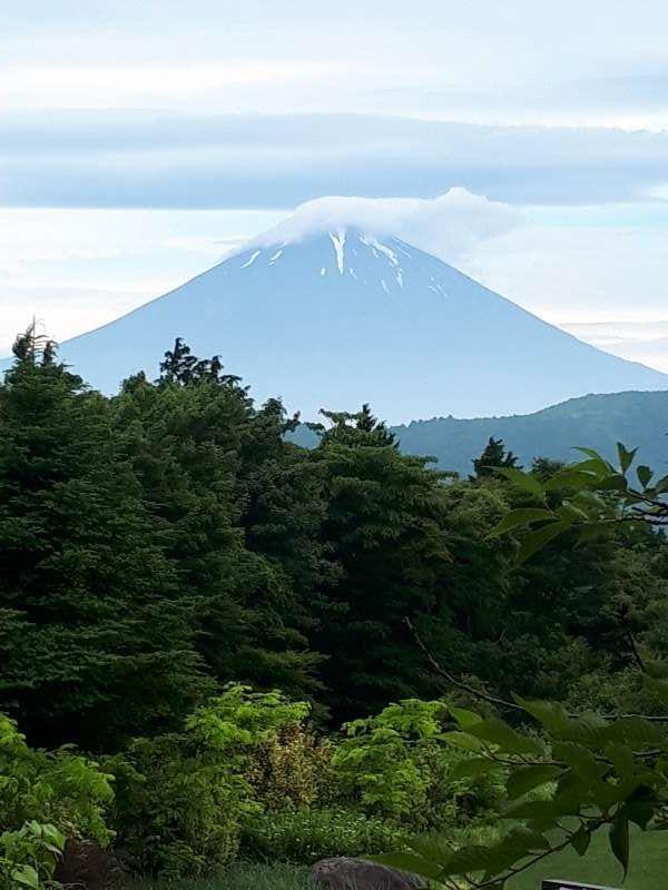 Beautiful Mt Fuji at Ubako located near Togendai pier