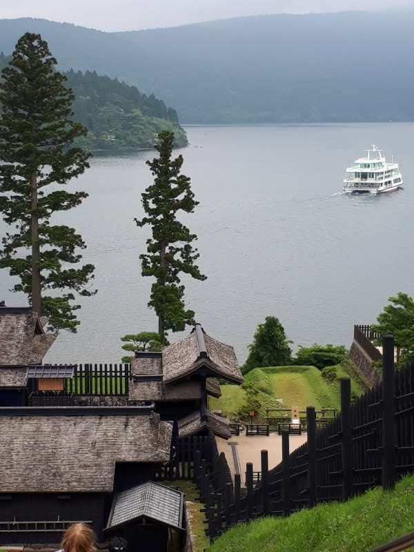 View of Lake Ashi from old Hakone Check Point Museum
