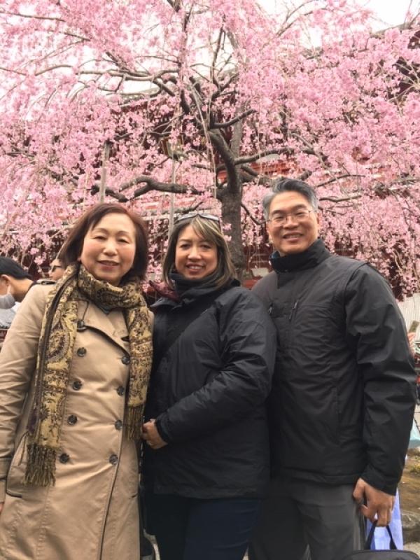A wonderful couple from San Diego, U.S.A. at Asakusa Sensoji, March 2019