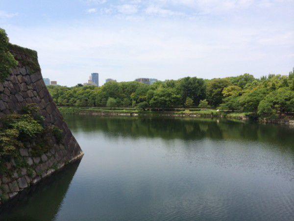 Here again, Osakajo Castle beautifully moated.