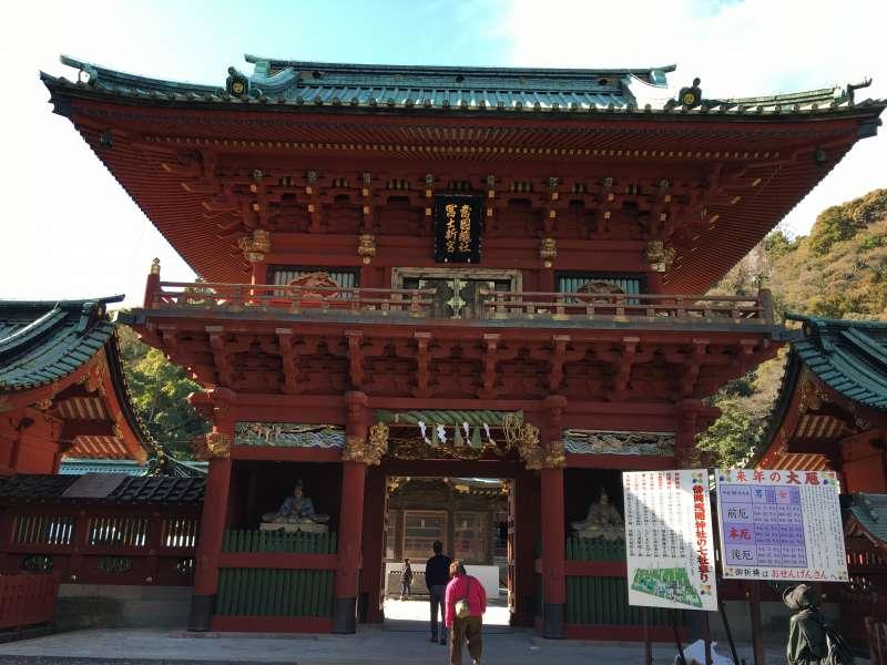 Shizuoka Sengen jinja shrine main tower gate