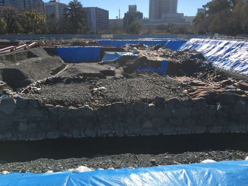 Excavation area at Sumpu castle park