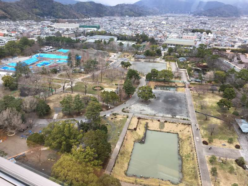 view from observation floor of shizuoka prefecutural office