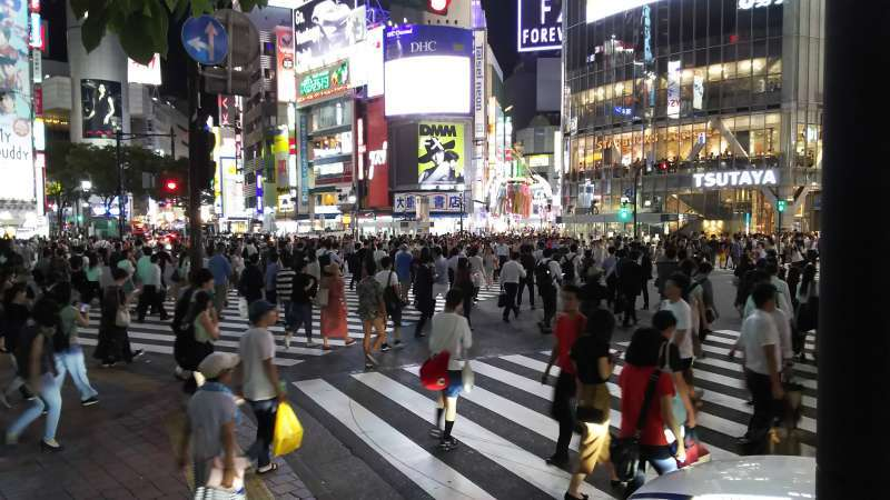 Shibuya : Most busiest intersection in the world.