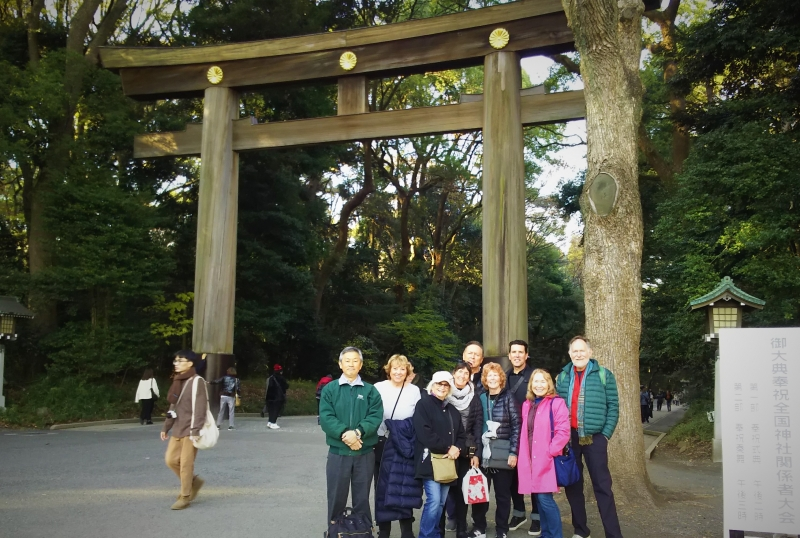 Meiji Shrine's main gate