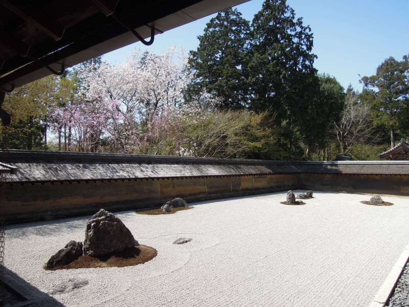 The Rock Garden of Ryoan-ji Temple, Kitayama