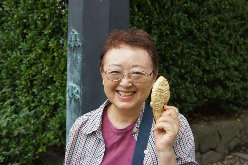 Nezu no Taiyaki---sehr leckere japanische traditionelle Suessigkeit