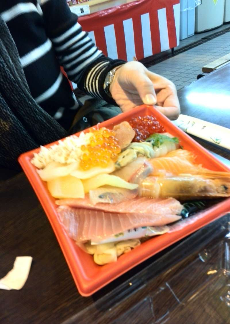 Lunch at Hasshoku Center (Fish Market)