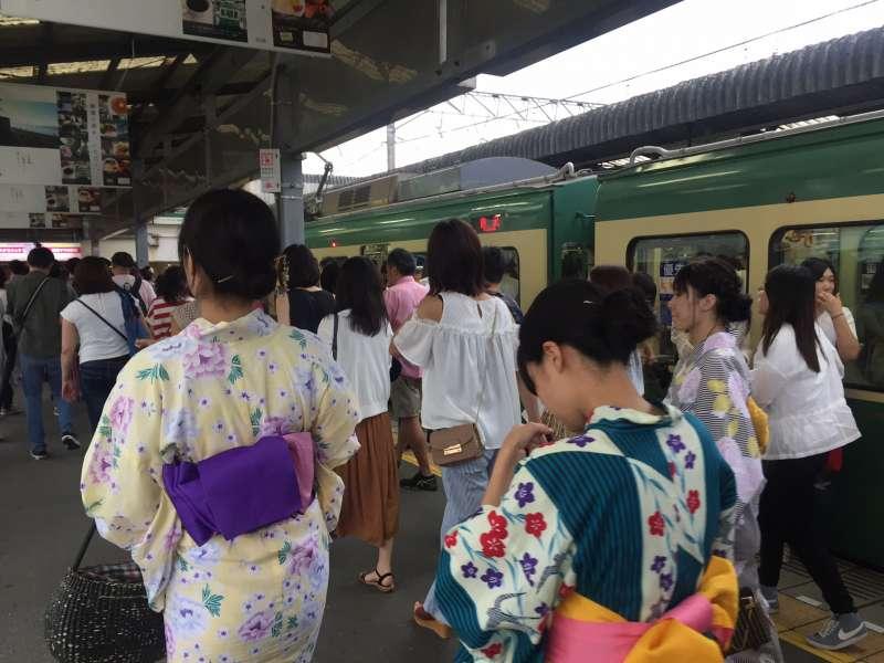 Kimono walking